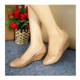 Ulasan Lengkap Sepatu Wedges Wanita Ja08 Sintetis Glossy Tan