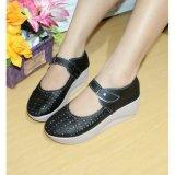 Harga Sepatu Wedges Wanita Laser Sintetis Hitam Nfz 053 Lengkap