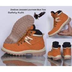 Sepatu ZimZam Jogger Leather Buk Tan