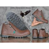 Beli Sepatu Zimzam Zipper Safety Brown Black Zimzam