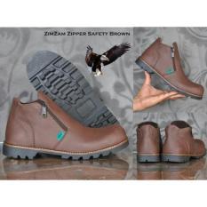 Pusat Jual Beli Sepatu Zimzam Zipper Safety Brown Black Jawa Timur