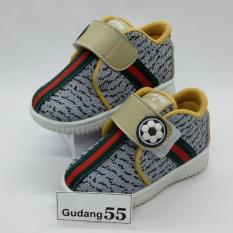 Toko Sepatu55 Sepatu Bayi Walker Anak Laki Laki Velcro Strap Abu Murah Di Indonesia