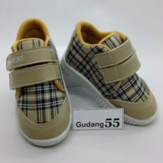Harga Sepatu55 Sepatu Bayi Walker Anak Laki Laki Velcro Strap Abu Kotak Asli Sepatu55