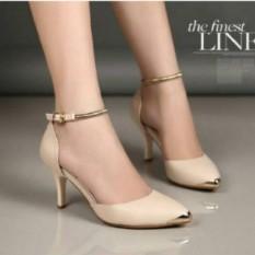 Toko Sepatu Sendal High Heels Gelang Wanita Cream Yang Bisa Kredit