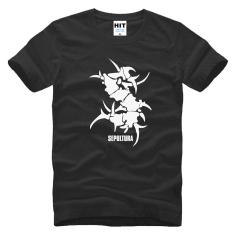 SEPULTURA Tribal Logo Metal Remaja Punk Rock T Shirt untuk Pria 2016 Pria Kasual Katun Lengan Pendek Top Tee Camisetas Masculina-Intl
