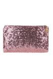 Beli Sequins Clutch Evening Party Bag Pink Pake Kartu Kredit