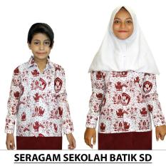Seragam Batik Sekolah SD, UKURAN  5 s/d 13. Batik Lengan Panjang (KSB001-01)