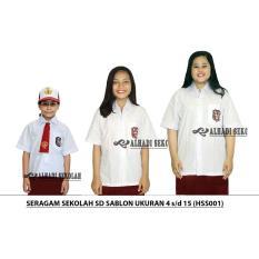 Seragam Sekolah SD,  UKURAN 4 s/d 15. Sablon (HSS001-01)
