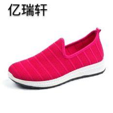 Seratus Juta Rui Baru Musim Panas Anyaman Jala Sepatu Musim Semi atau Musim Panas Olahraga Sepatu Sepatu (Mawar Merah)