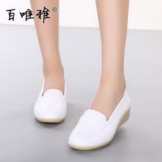 Sebuah Hundred Wei Ya Sepatu Hak Perempuan Bawah Tendon Putih Musim Semi atau Musim Panas Sepatu Kets Putih Pijakan Empuk (model Wanita + Putih Bawah Tendon)