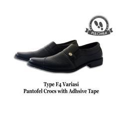 Jual Serba Grosir Murah Sepatu Pantofel Pria Pulchra Type F4 Variasi Pantofel Croc With Adhsive Tape Sepatu Laki Laki Sgm Murah
