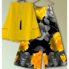 Spesifikasi Set Blouse Dan Celana Kulot Baju Muslim Wanita Terbaru Promo Beserta Harganya
