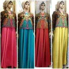 Set Bolero Tenun/ gamis pesta / Dress Pesta Muslim