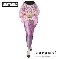 Spek Set Cape Brukat Brokat Kebaya Modern Dan Rok Lilit Brukat Wanita Baby Pink Jawa Timur