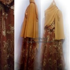 Set Dress Gamis Muslim Tile Payet Baju Pesta Muslimah