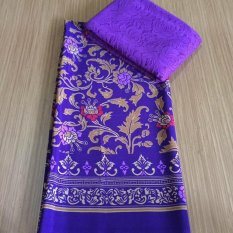 cherry  - set kain satin mawar rambat ungu dan brokat sofia - ungu kebaya bali murah