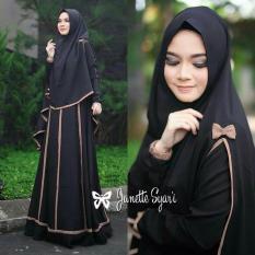 UC Dress Gamis Muslim Imelda / Gamis Muslim Syari Syar'i Fashion Maxi / Syari Simple Elegant / Baju Muslim Wanita (nettaja) SS - HITAM