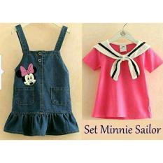 Promo Lf Setelan Anak Perempuan Sailor 3 5 Tahun Shirt Kids Baju Dan Celana Polos Trendy Lucu Bagus Kiddy Tse Nniemi Xr Pink D2C Murah