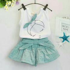 Beli Lf Setelan Anak Polos Baju Dan Rok Tshirt Perempuan Size 3 5 Tahun Eepsl Dyla Xr White Green Pake Kartu Kredit
