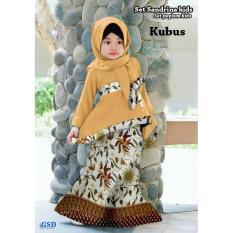 Setelan Baju Anak Cewek/Baju Muslim Anak/Baju Batik Anak/Set Peplum