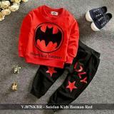 Promo Setelan Baju Anak Cowo Bagus Grosir Fashion Anak Vj87Skbr Setelan Kids Batman Red Fit 3 5 Tahun Indonesia