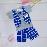 Promo Setelan Baju Anak Laki Laki Model Kaos Rompi Dan Celana Biru Akhir Tahun