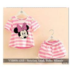 Tips Beli Setelan Baju Anak Perempuan Murah Grosir Busana Anak Vh80Sabb Bahu Bolong Minnie Stripe Fit 3 4 Tahun Yang Bagus
