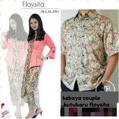 setelan baju kebaya batik couple kelurga/kebaya tradisional/kebaya modern/kebaya couple modern/kebaya kutu baru floysita terbaru gathan collection