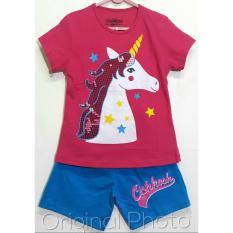 Spesifikasi Setelan Baju Kaos Anak Perempuan Unicorn Pink Size 1 2 3 4 5 6 Tahun Murah Berkualitas