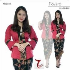 Setelan baju kebaya batik modern kutu baru & rok lilit . Elnira 1. keluaran terbaru fashion wanita