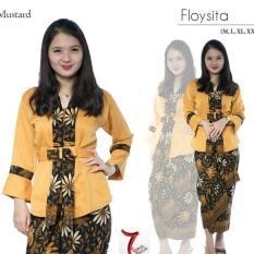 Setelan Baju batik kebaya modern/kebaya wanita/kebaya tradisional/kebaya lebaran/kebaya wisuda/kebaya perpisahan sekolah/kebaya kutu baru floysita & rok lilit. keluaran - terbaru