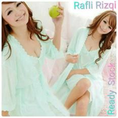 Setelan Baju Tidur Wanita Cantik  Sleepwear Daster Kimono Seksi - Cb35a7