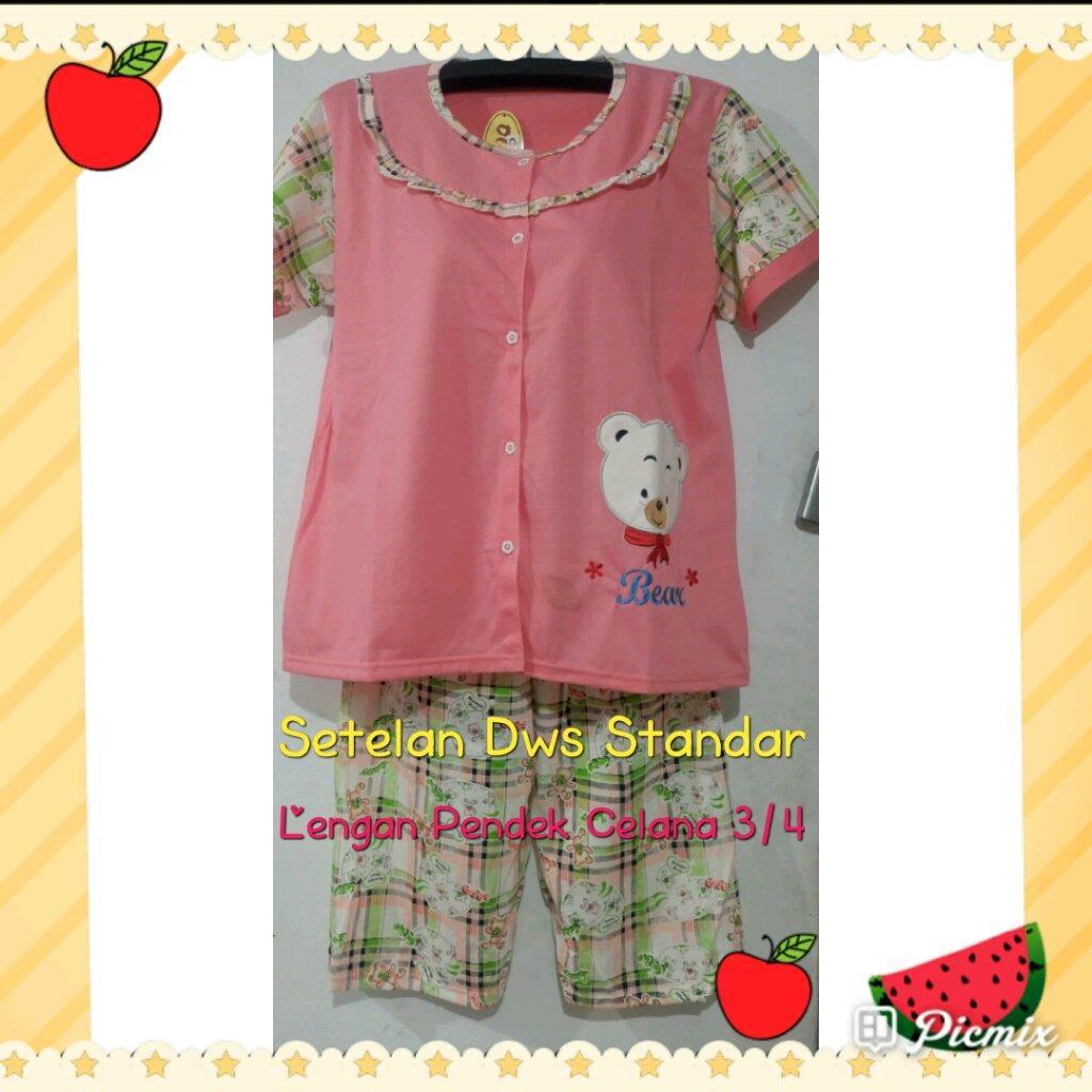 Harga Dan Spesifikasi Pakaian Tidur Wanita Setelan Tangan Pendek Charger Warna Warni Merk Hasan Sj0048 Jualan Diskonl Baju Santai Bahan Tc Kaos 6 Celana Pilihan
