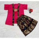 Jual Setelan Batik Anak Bahan Katun Warna Pink Bac29 1 5Tahun Diyas Di Indonesia