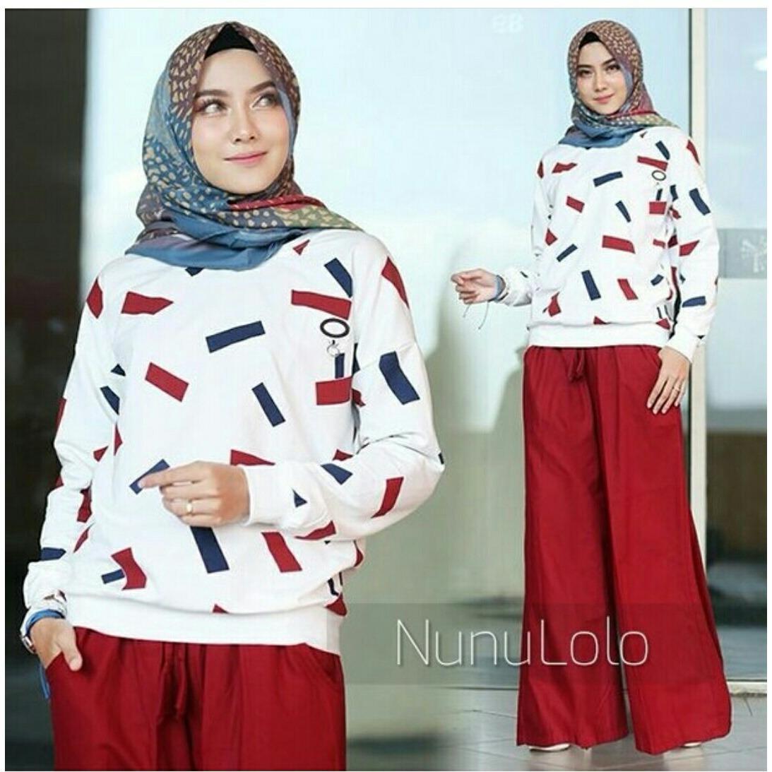 Jual Murah Zizara Set Setelan Batik Celana Kulot Dan Blus Update Stelan 3 4 Print Spt001 14 Daftar Harga Barang Terkini Terlengkap Nulo