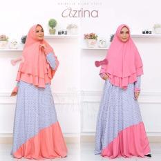 Setelan Gamis / Dress Syari Azrina + Khimar dari Oribelle