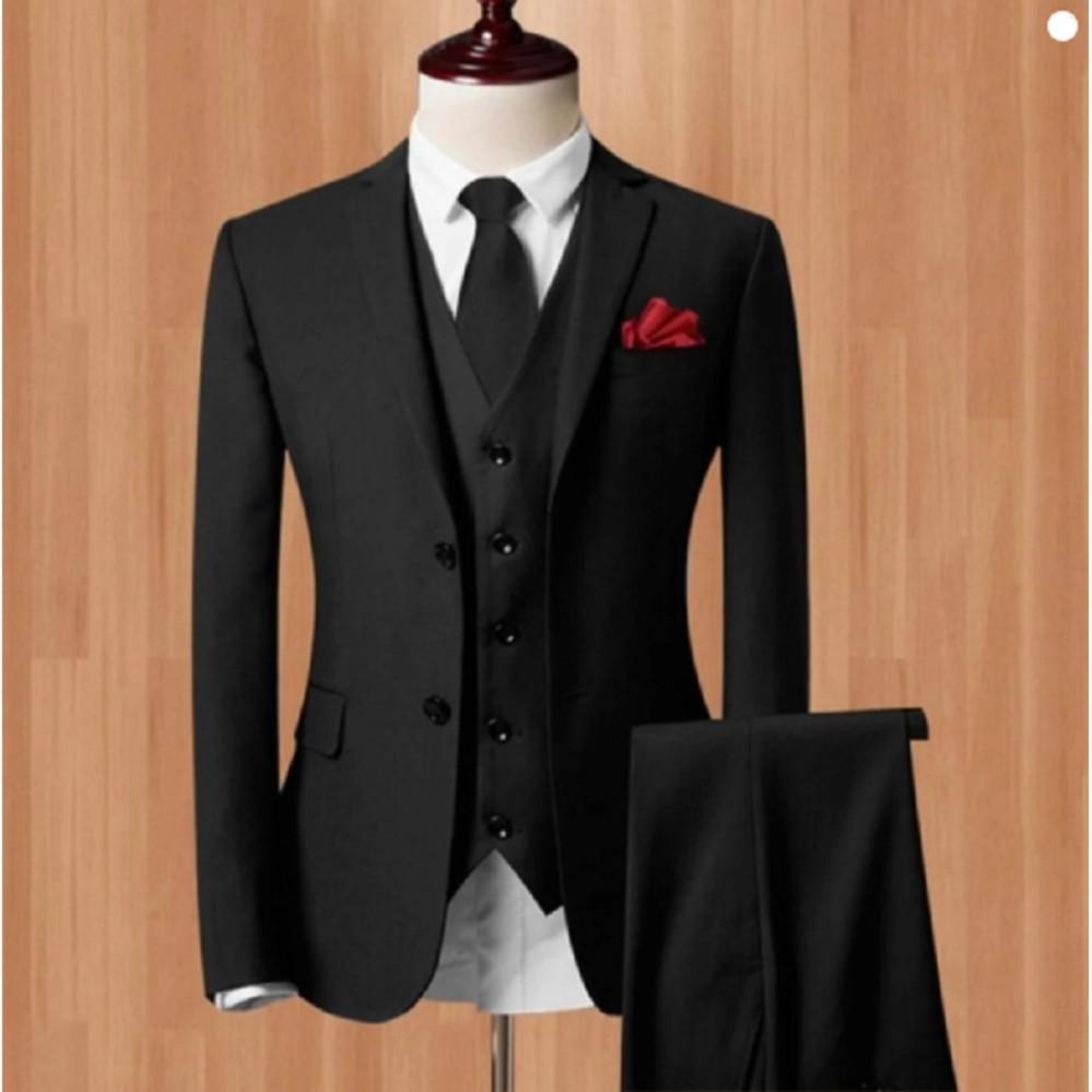 Jahitan Modiste Dijamin Rapi Setelan Jas Celana Formal Wedding Black ef64ca0c3d