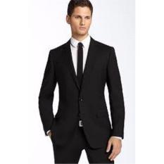setelan jas pria formal full black slimfit
