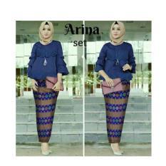 Setelan kebaya arina laser/kebaya wisuda modern/kebaya batik murah