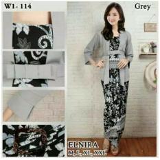 Setelan pakaian Batik wanita /baju kebaya modern/kebaya Kartini/kebaya tradisional/kebaya keluarga/ kebaya wanita//kebaya kutu baru & rok lilit Elnira keluaran terbaru