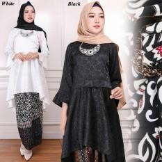 setelan kebaya modern model Tunik pinguin wanita / fashion baju wanita batik /gamis genie store
