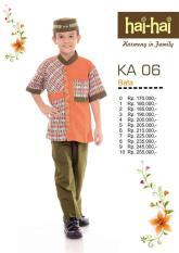 Setelan Koko Anak HAI-HAI KA 06 (Merah Bata/Ungu)