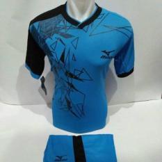 setelan olahraga kaos bola jersey futsal baju volly mizuno triangle biru