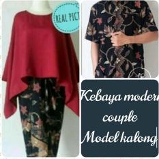 Setelan pakaian baju Kebaya COUPLE keluarga/kebaya modern/kebaya batwing-KALONG keluaran terbaru