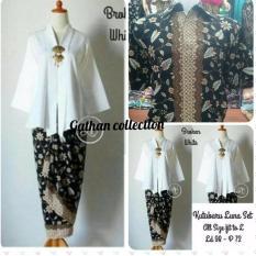 Setelan pakaian baju batik wanita/baju couple/ Kebaya modern/pakaian tradisional/kebaya lebaran/kebaya keluarga/kebaya  couple kutu baru floy keluaran terbaru