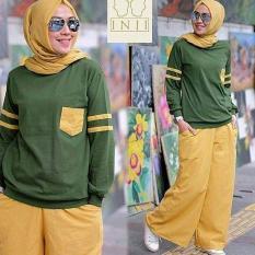 Setelan Pakaian Olah Raga Wanita Muslim/Hijabers Kirei Set Green