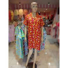 Setelan Piyama Katun Daster Kemeja Sleepwear Pajamas Lucu Baju Tidur Murah 4133784 Banana Red