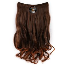 Seven 7 Revolution Hair Clip Keriting Curly Lightbrown  Big Layer 60 cm - Coklat Muda / Hairclip Korea
