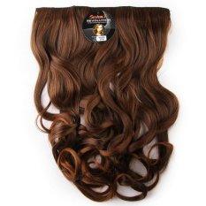 Harga Termurah Seven 7 Revolution Hair Clip Keriting Wavy Lightbrown Big Layer 60 Cm Coklat Muda Hairclip Korea