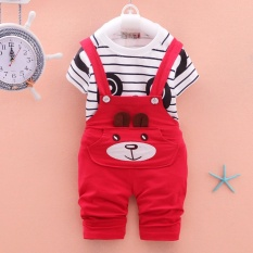 Spesifikasi Sexemara 2017 New Boys And Girls Suits Cartoon Pattern T Shirt Trousers Baby Suit Children Clothing Set Intl Baru